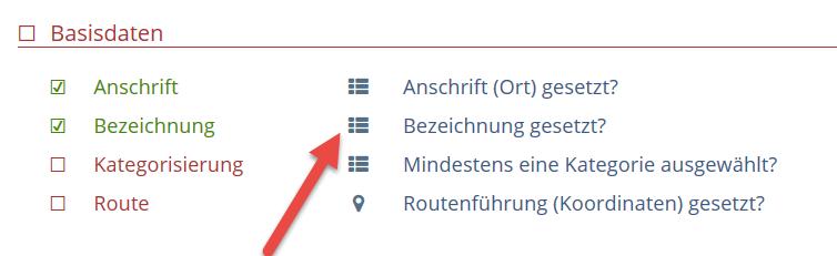 Touren-Editor-Datenqualität